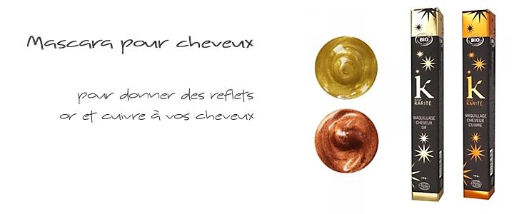 Mascara or et cuivre pour cheveux