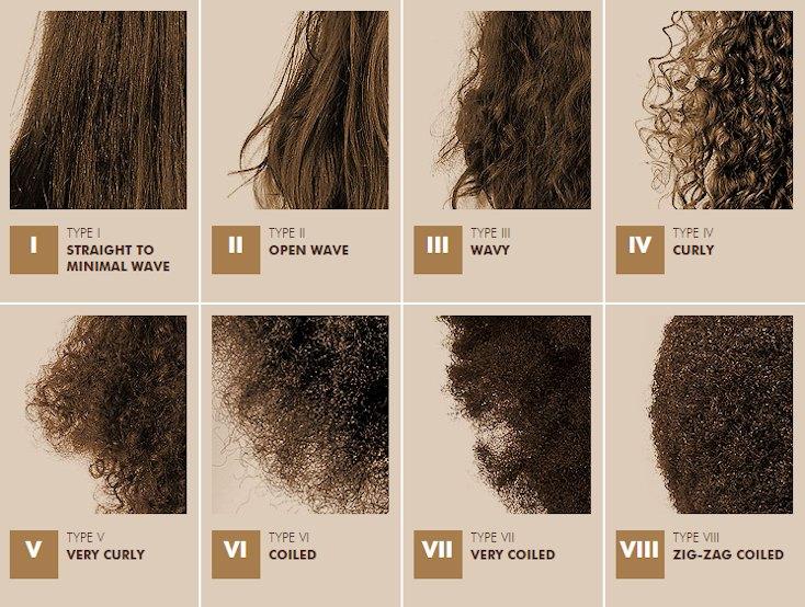 Different Types Of Hair Color Styles: Les TYPES DE CHEVEUX Selon Le Mizani Curl Key