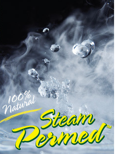 100% Natural Steam Permed