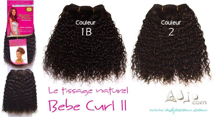 """Présentation des couleurs 1B et 2 du tissage naturel """"Bébé Curl II"""" de la marque BLACK PEARL"""