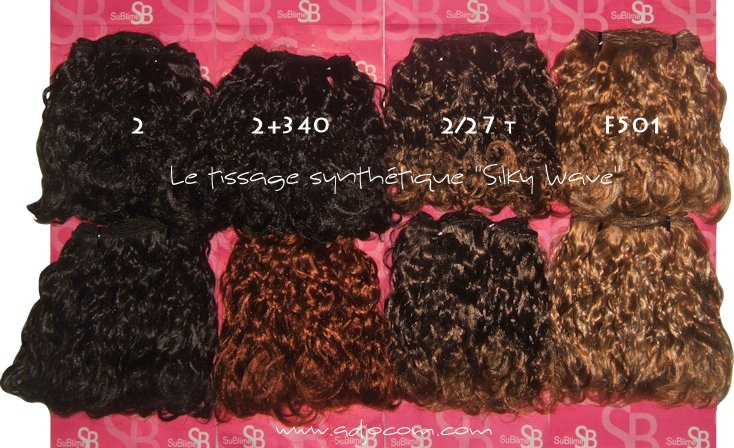Tissage synthétique cheveux synthétiques Kanekalon SILKY WAVE